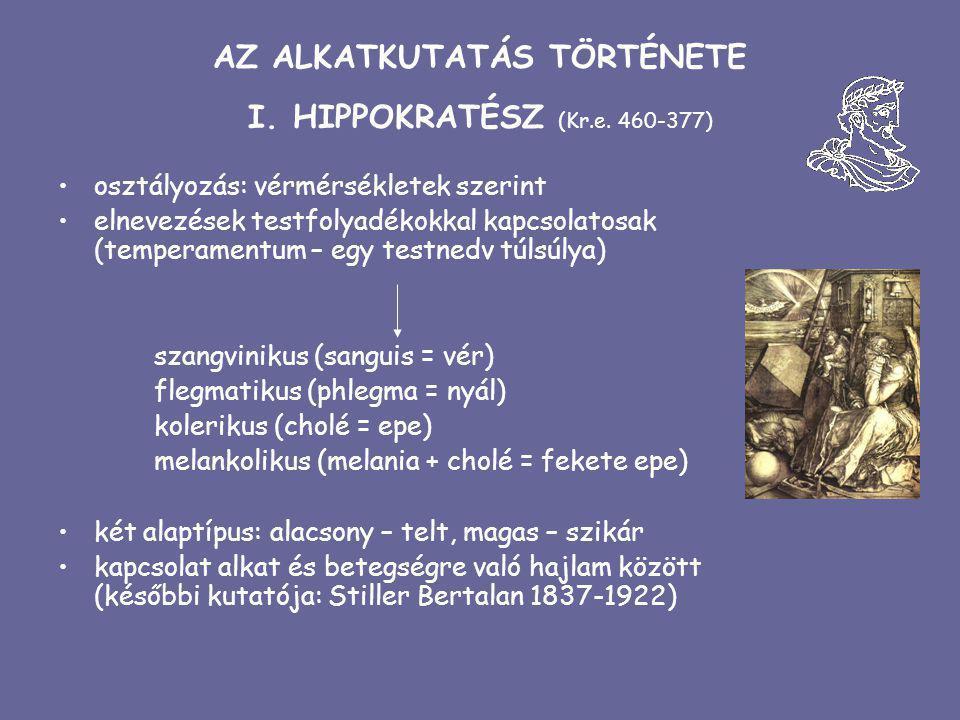 AZ ALKATKUTATÁS TÖRTÉNETE I. HIPPOKRATÉSZ (Kr.e. 460-377)
