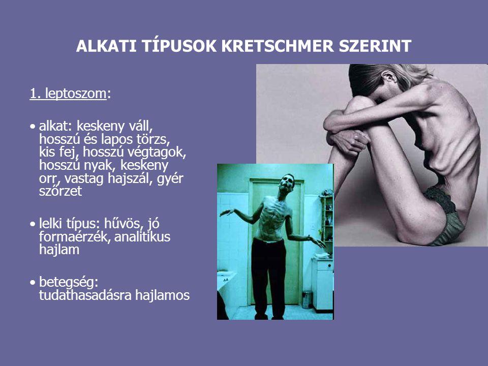 ALKATI TÍPUSOK KRETSCHMER SZERINT