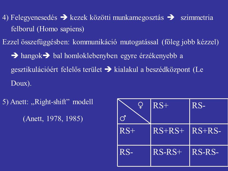 RS-RS- RS-RS+ RS- RS+RS- RS+RS+ RS+ ♀ ♂
