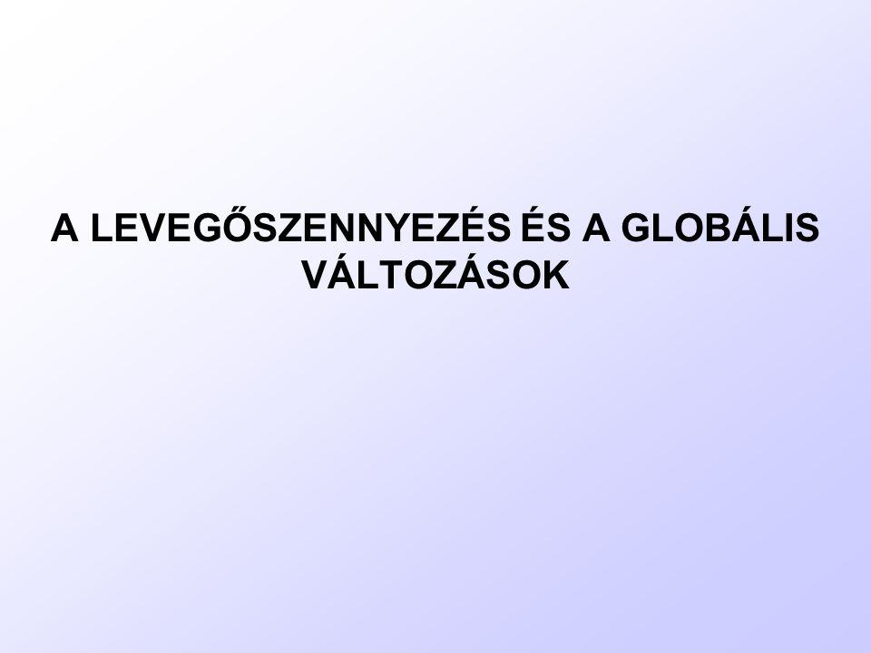 A LEVEGŐSZENNYEZÉS ÉS A GLOBÁLIS VÁLTOZÁSOK
