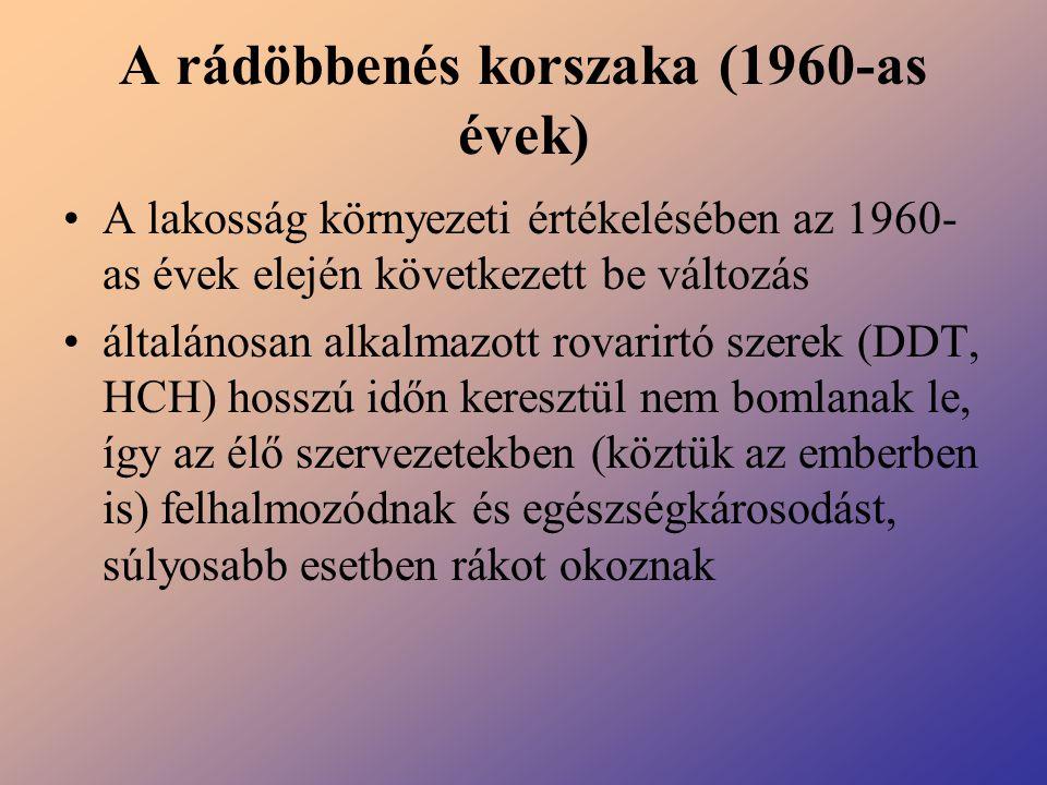 A rádöbbenés korszaka (1960-as évek)