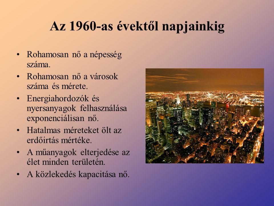 Az 1960-as évektől napjainkig