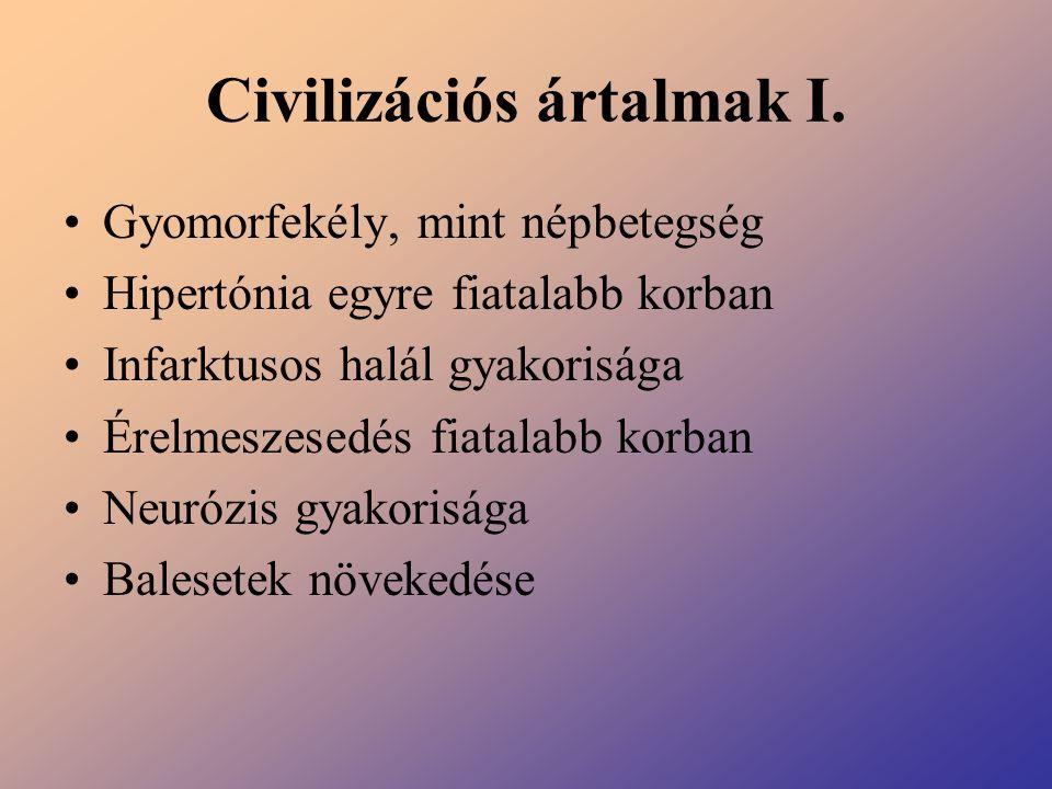 Civilizációs ártalmak I.