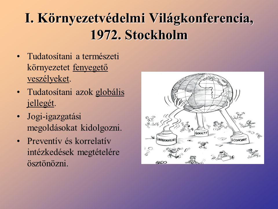 I. Környezetvédelmi Világkonferencia, 1972. Stockholm