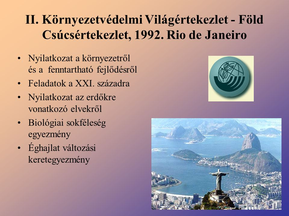 II. Környezetvédelmi Világértekezlet - Föld Csúcsértekezlet, 1992