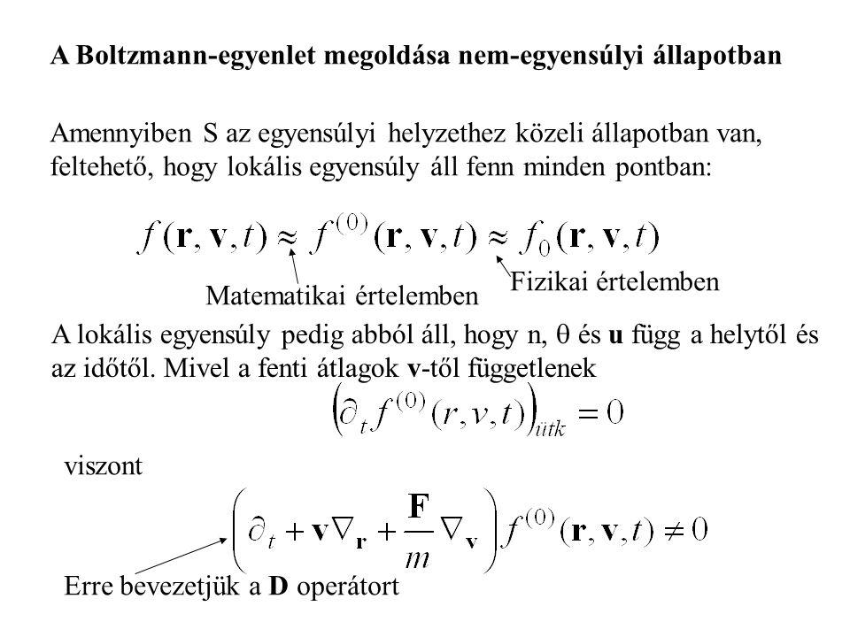 A Boltzmann-egyenlet megoldása nem-egyensúlyi állapotban