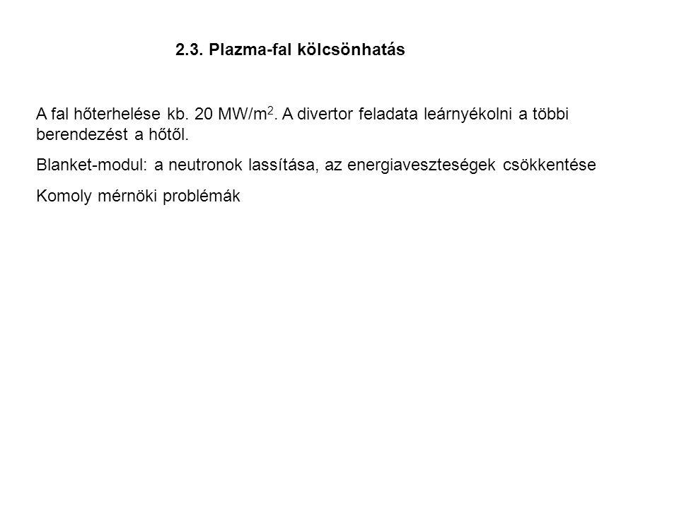 2.3. Plazma-fal kölcsönhatás