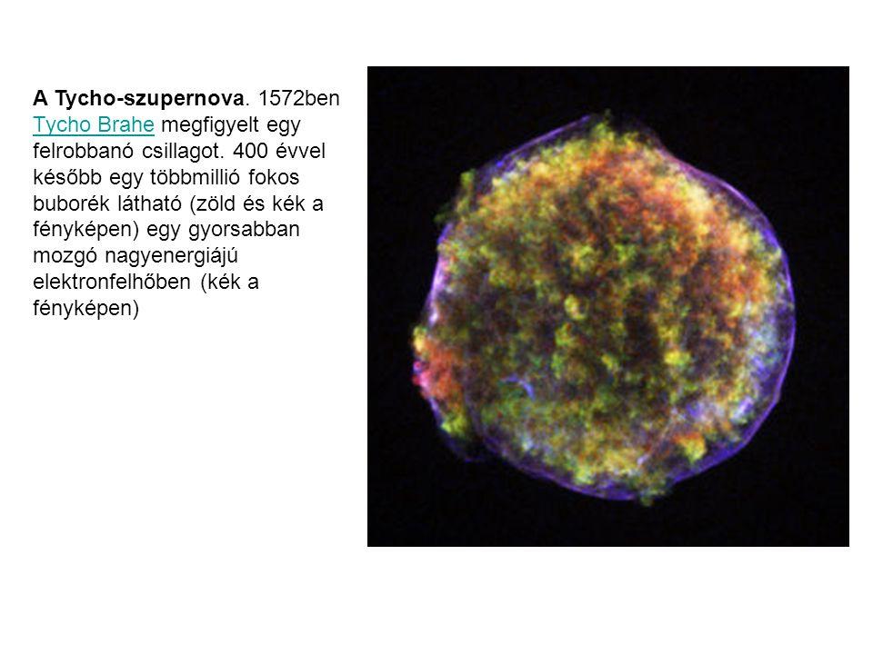 A Tycho-szupernova. 1572ben Tycho Brahe megfigyelt egy felrobbanó csillagot.