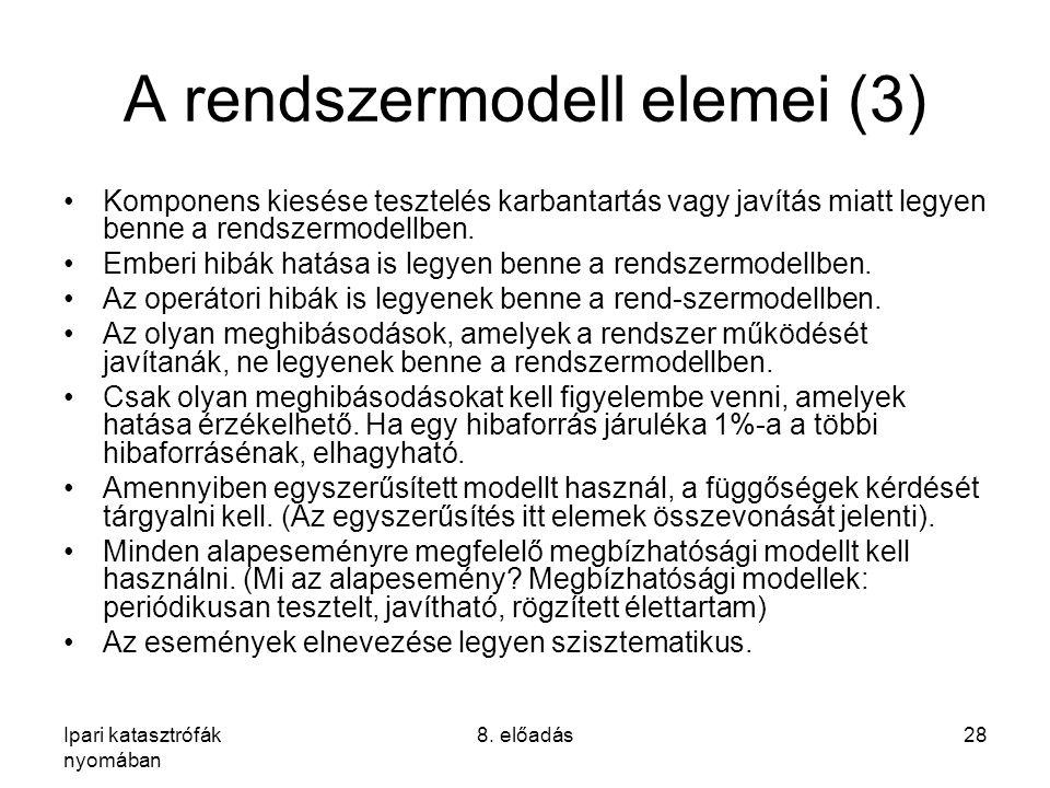 A rendszermodell elemei (3)