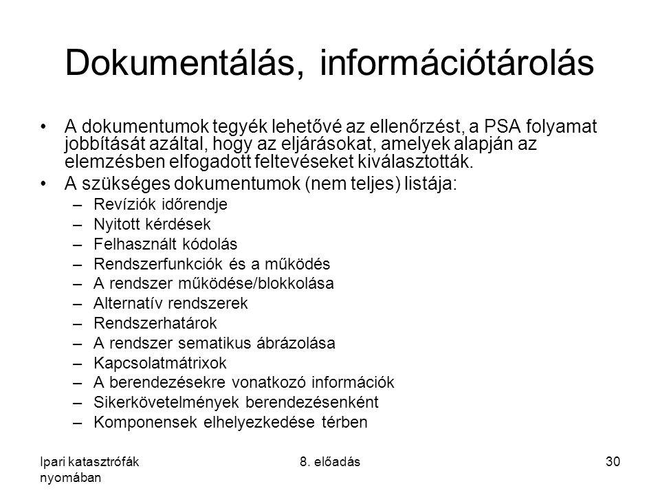 Dokumentálás, információtárolás
