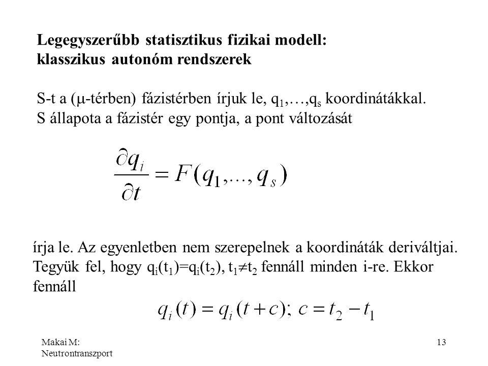 Legegyszerűbb statisztikus fizikai modell: