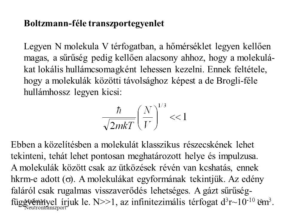 Boltzmann-féle transzportegyenlet