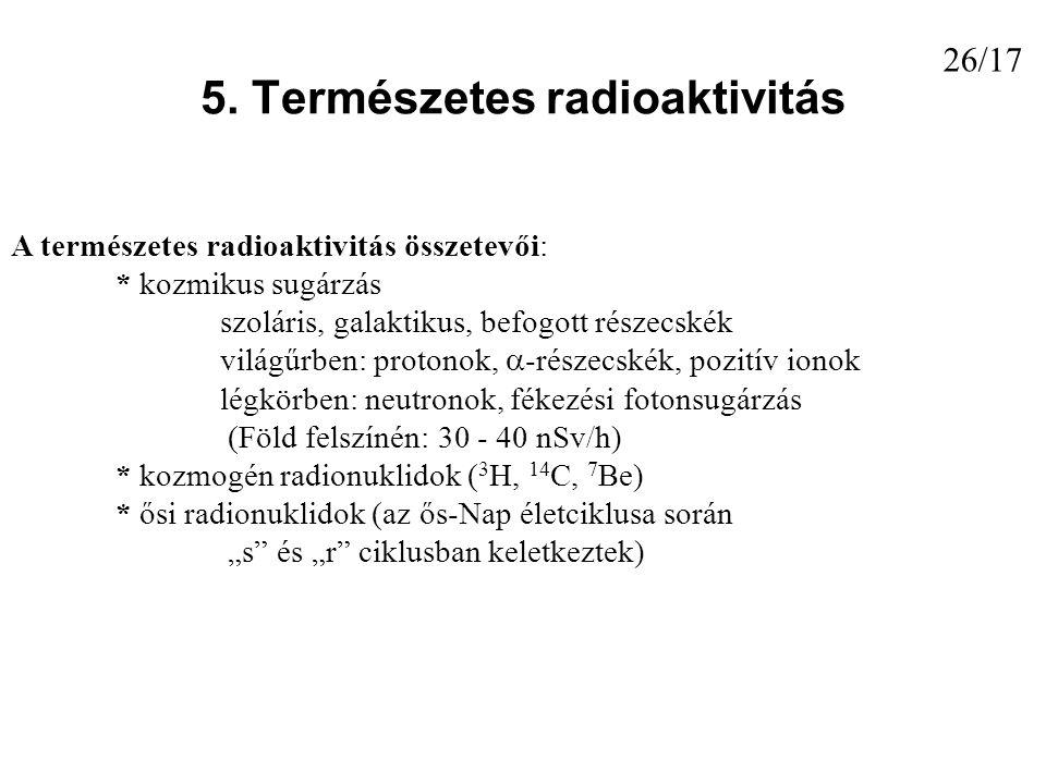 5. Természetes radioaktivitás