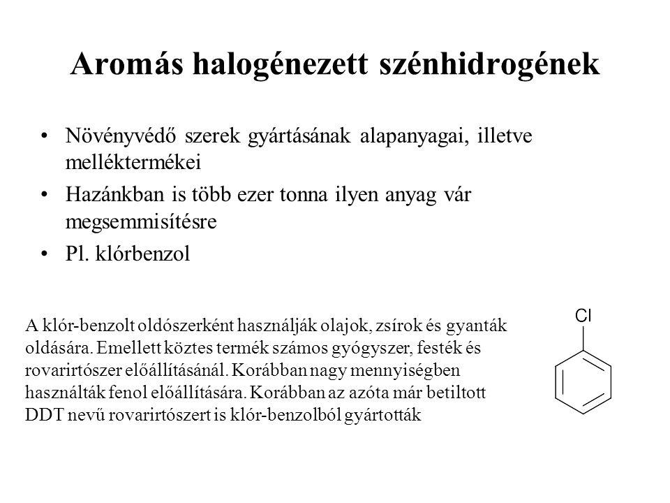 Aromás halogénezett szénhidrogének