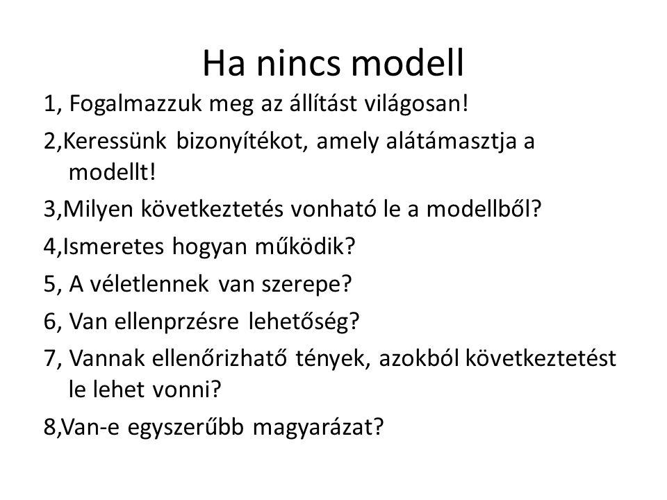 Ha nincs modell