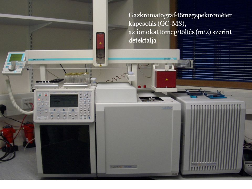 Gázkromatográf-tömegspektrométer kapcsolás (GC-MS),