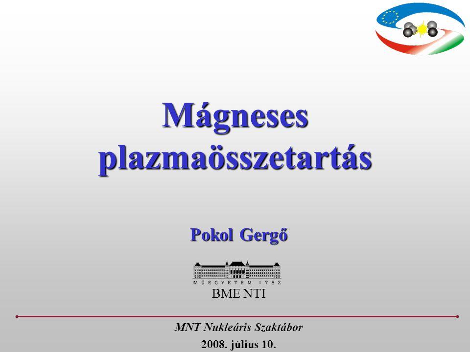 Mágneses plazmaösszetartás