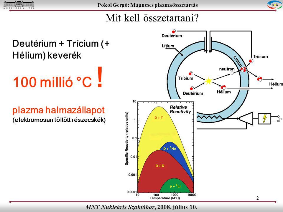 Pokol Gergő: Mágneses plazmaösszetartás