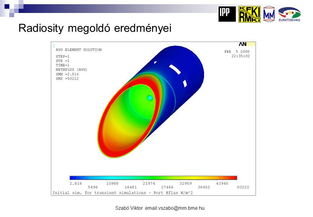 Radiosity megoldó eredményei