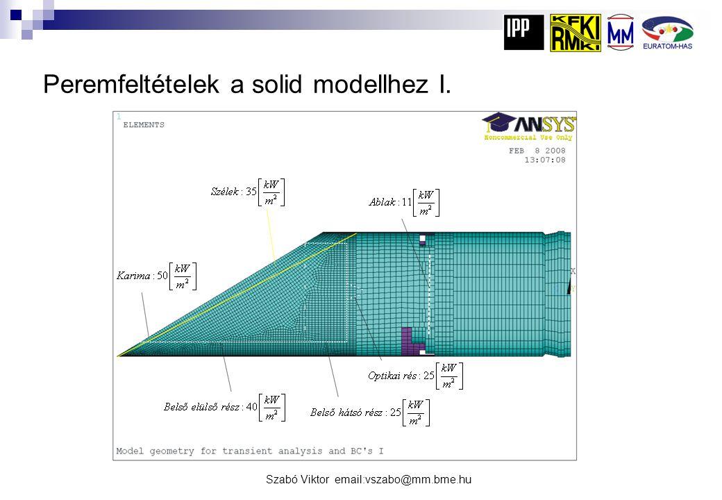 Peremfeltételek a solid modellhez I.