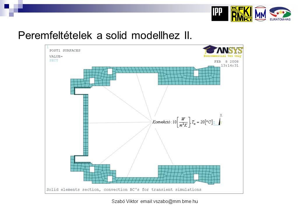 Peremfeltételek a solid modellhez II.