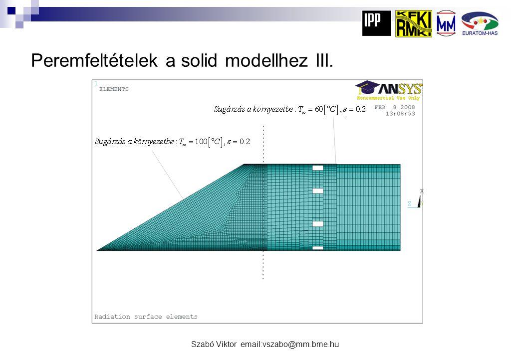 Peremfeltételek a solid modellhez III.