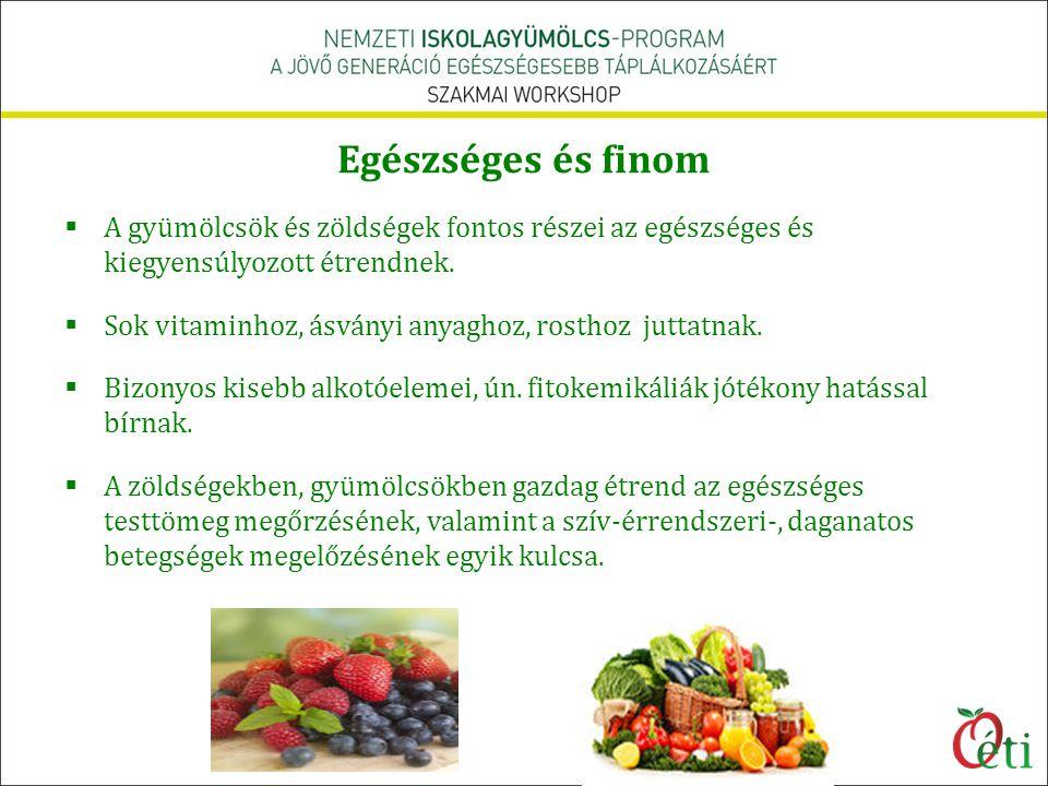 Egészséges és finom A gyümölcsök és zöldségek fontos részei az egészséges és kiegyensúlyozott étrendnek.