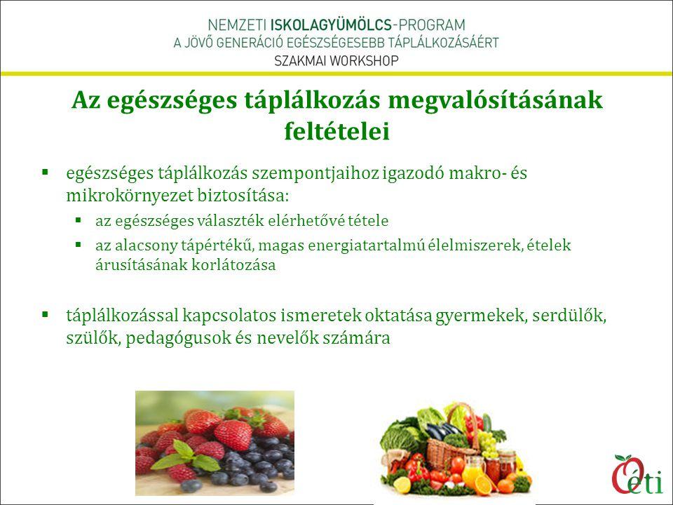 Az egészséges táplálkozás megvalósításának feltételei