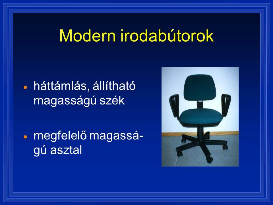 Modern irodabútorok háttámlás, állítható magasságú szék