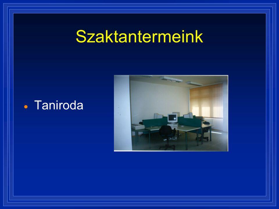 Szaktantermeink Taniroda