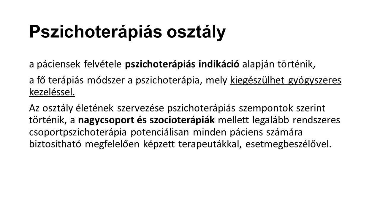 Pszichoterápiás osztály