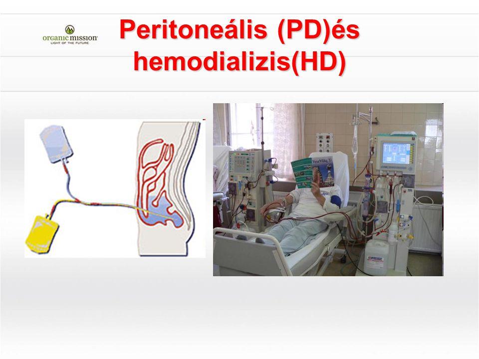 Peritoneális (PD)és hemodializis(HD)