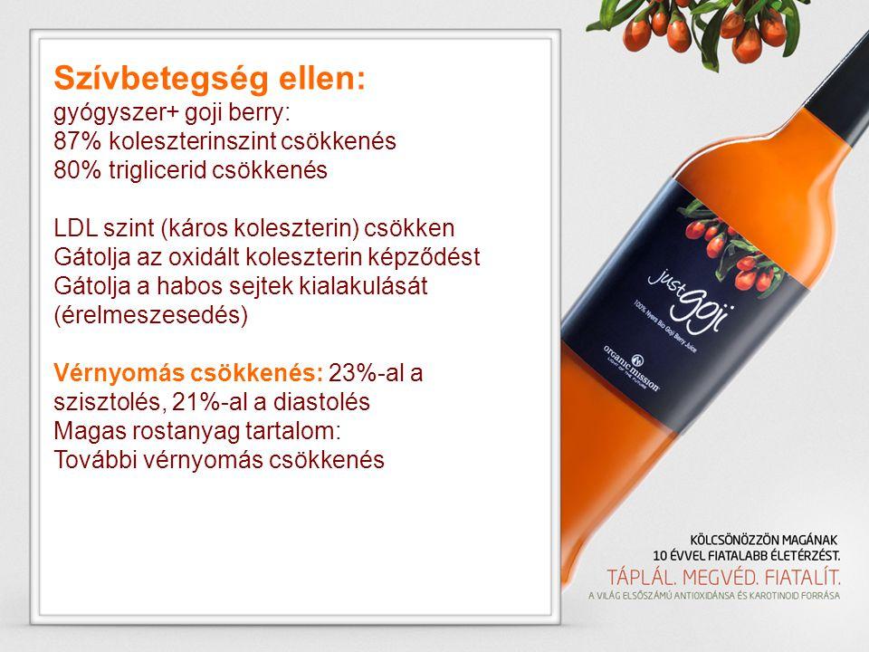 Szívbetegség ellen: gyógyszer+ goji berry: