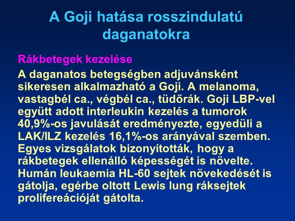 A Goji hatása rosszindulatú daganatokra