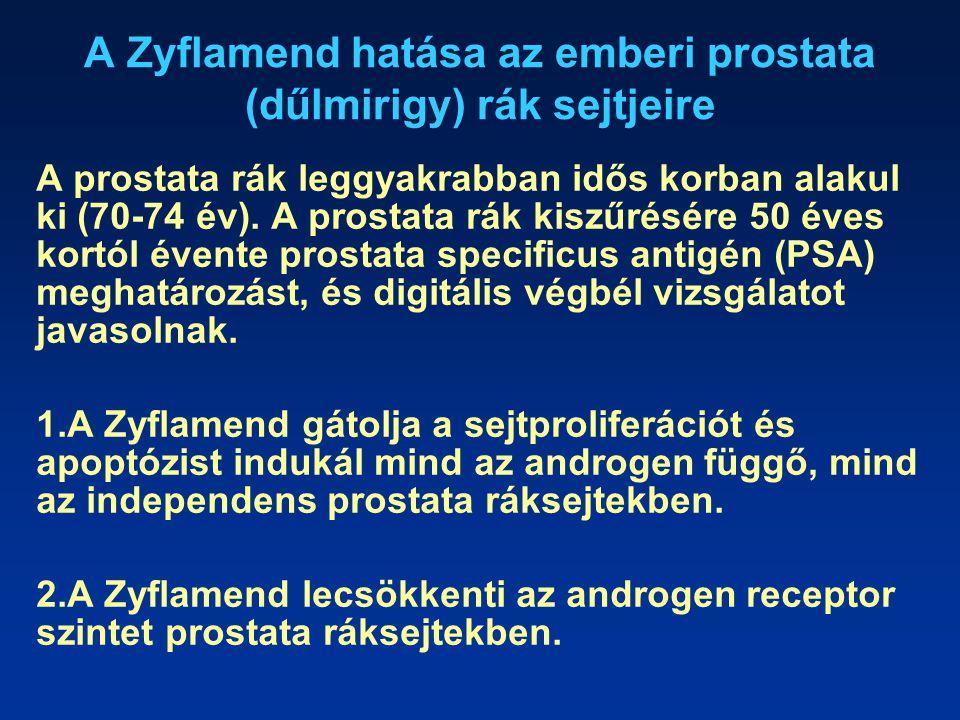 A Zyflamend hatása az emberi prostata (dűlmirigy) rák sejtjeire