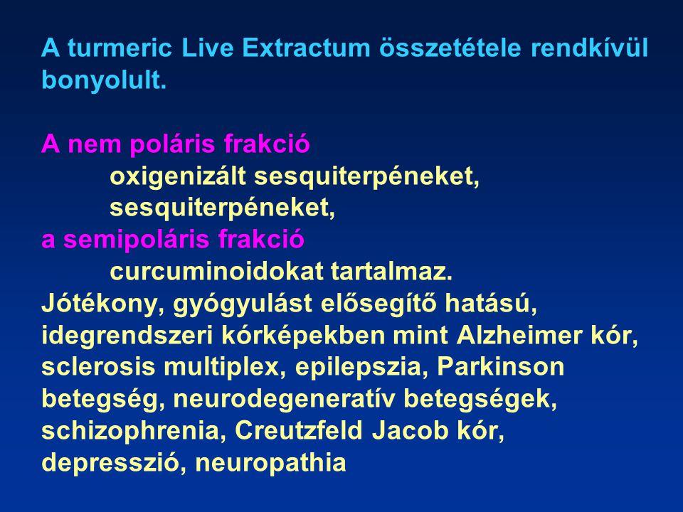 A turmeric Live Extractum összetétele rendkívül bonyolult