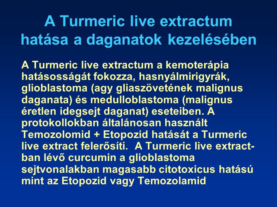 A Turmeric live extractum hatása a daganatok kezelésében