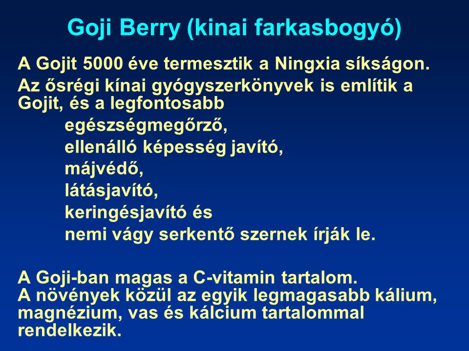 Goji Berry (kinai farkasbogyó)
