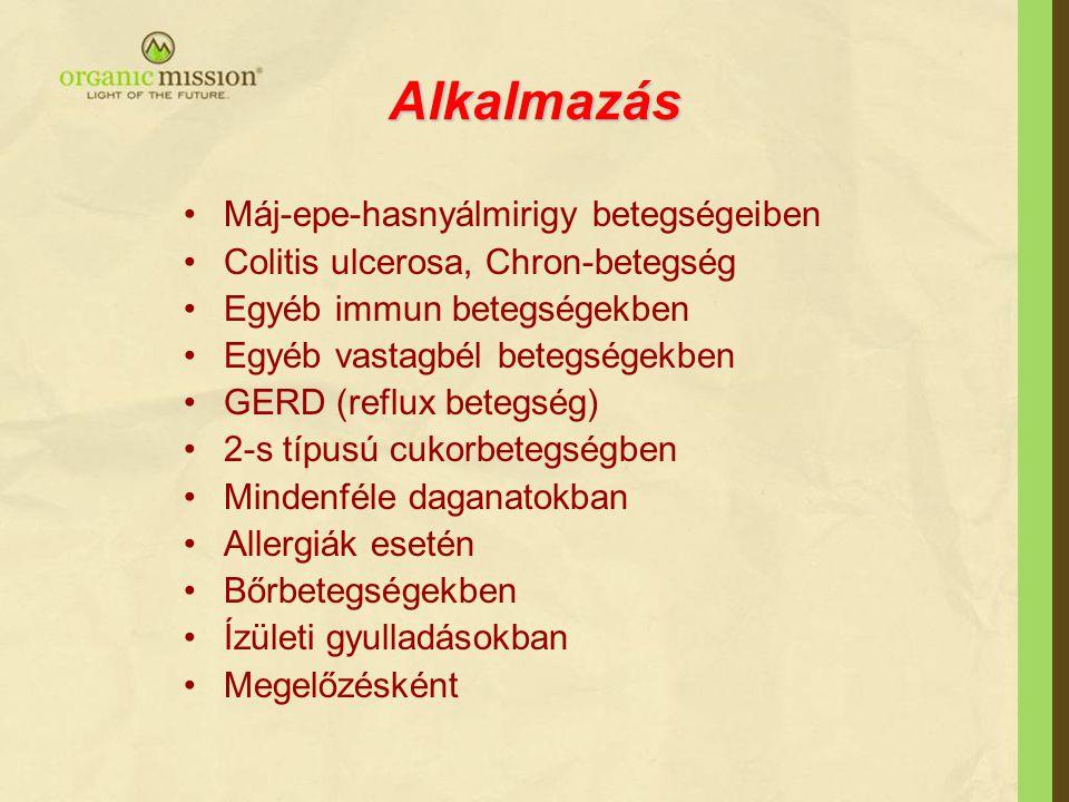 Alkalmazás Máj-epe-hasnyálmirigy betegségeiben