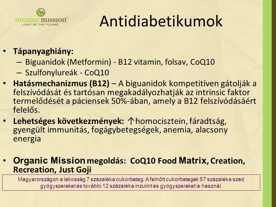 Antidiabetikumok Tápanyaghiány: