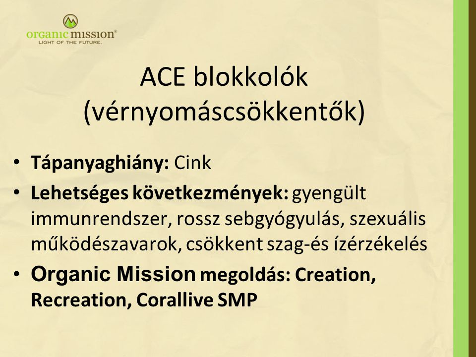ACE blokkolók (vérnyomáscsökkentők)