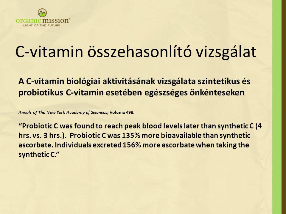 C-vitamin összehasonlító vizsgálat
