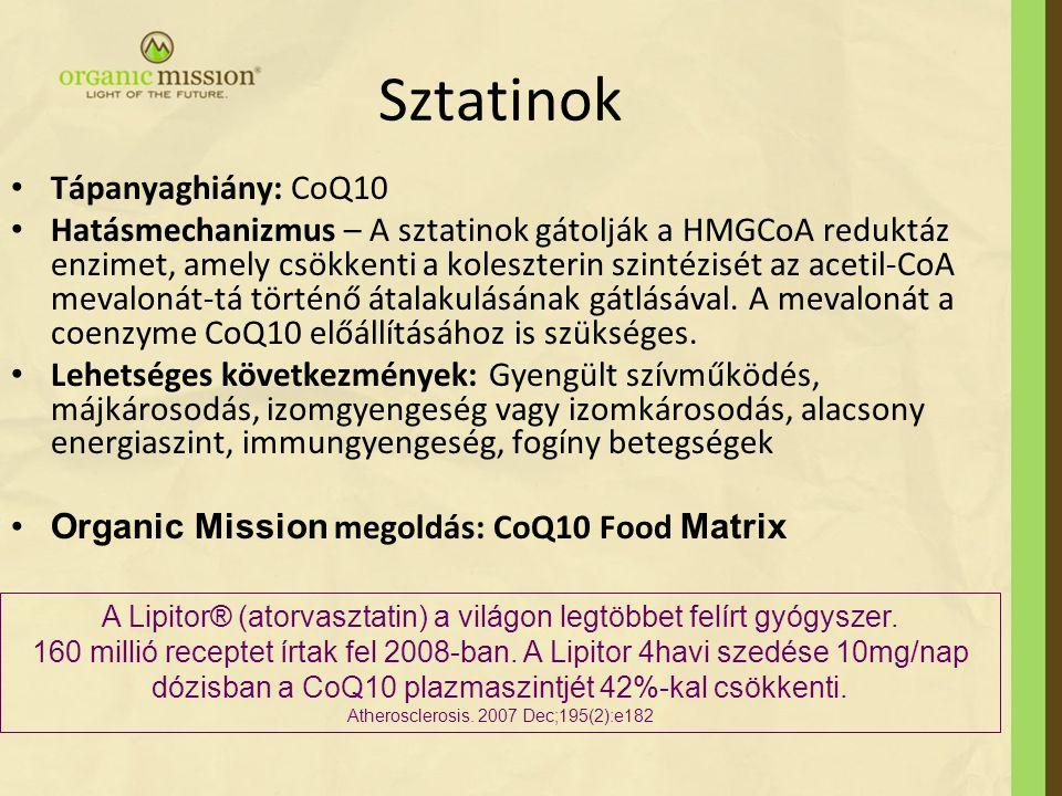 Sztatinok Tápanyaghiány: CoQ10