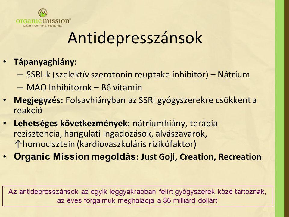 Antidepresszánsok Tápanyaghiány: