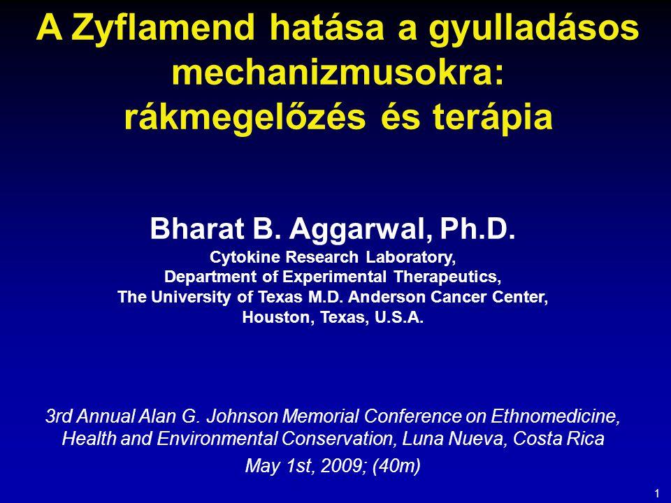 A Zyflamend hatása a gyulladásos mechanizmusokra: