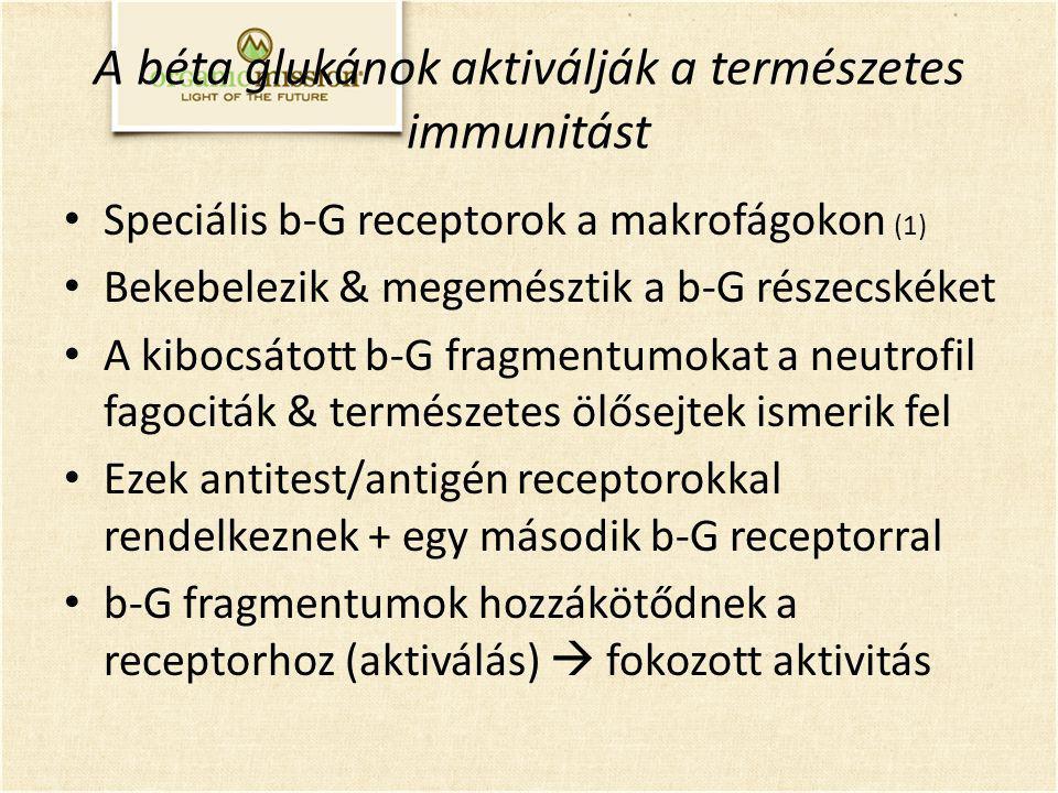 A béta glukánok aktiválják a természetes immunitást