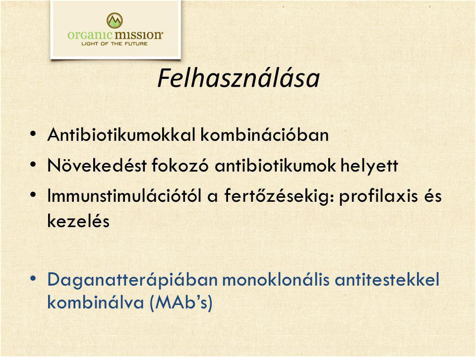 Felhasználása Antibiotikumokkal kombinációban