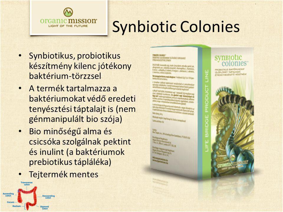 Synbiotic Colonies Synbiotikus, probiotikus készítmény kilenc jótékony baktérium-törzzsel.