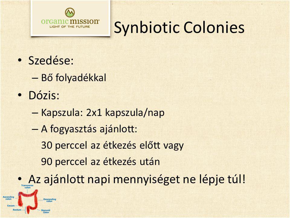 Synbiotic Colonies Szedése: Dózis: