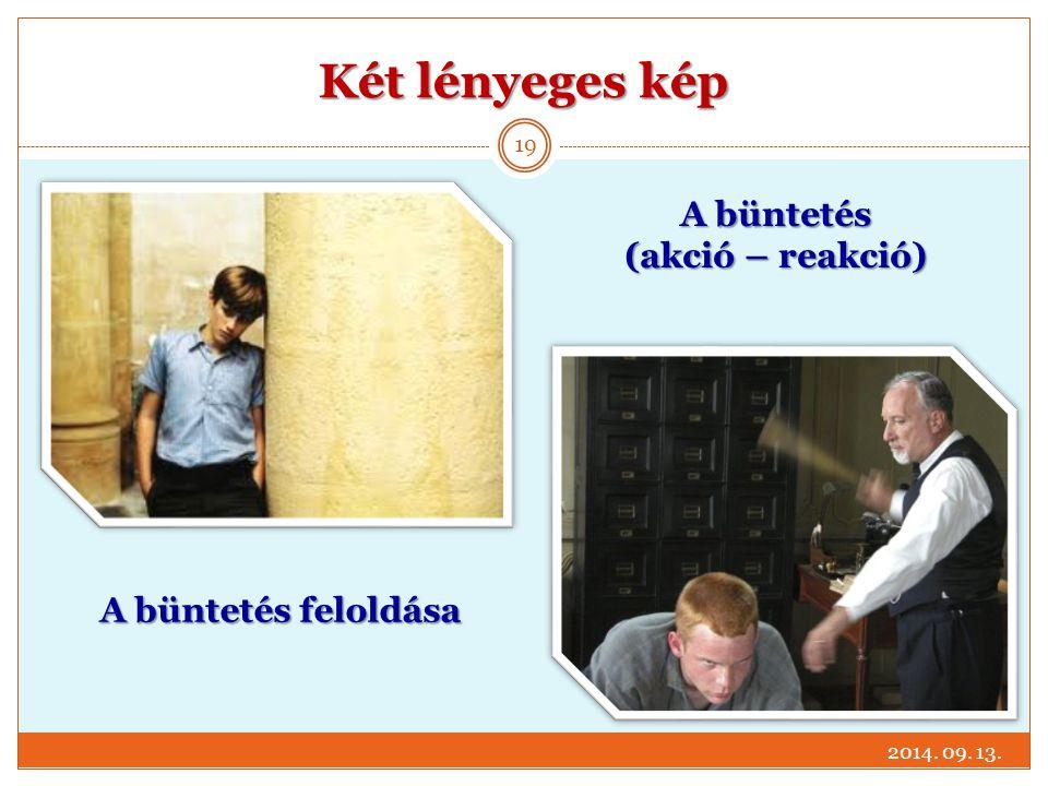 Két lényeges kép A büntetés (akció – reakció) A büntetés feloldása